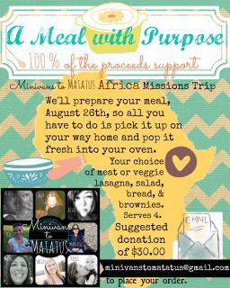 A Meal with Purpose
